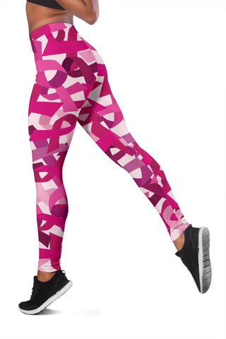 Image of Breast Cancer Awareness Women's Leggings