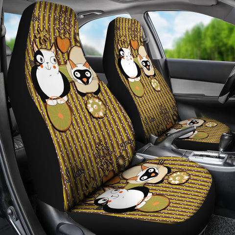 Image of Cute cats car Seat Cover