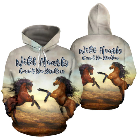Wild Hearts Can't Be Broken All Over Print Hoodie