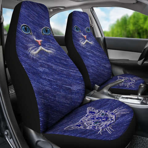 Blue Cat eyes Car Seat Cover