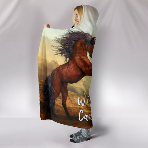 Image of Wild Hearts Can't Be Broken Hooded Blanket