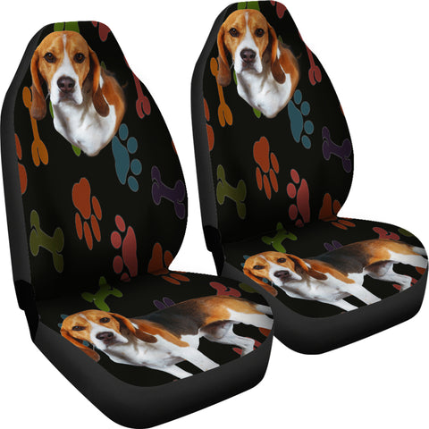 Image of Beagle black Car Seat Cover