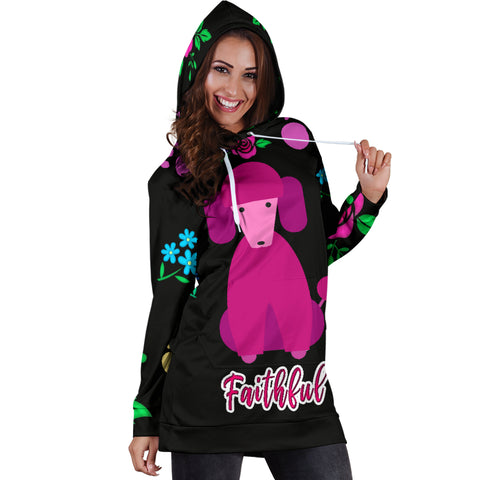 Faithful Poodle Dog Hoodie Dress Cute Poodle Dogs