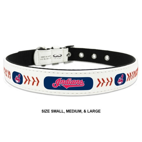 Cleveland Indians Classic Leather Baseball Collar