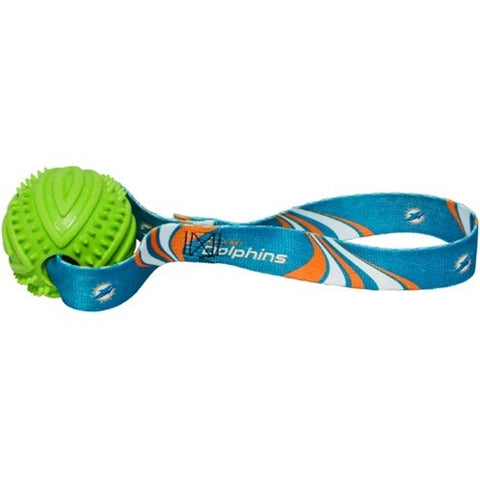 Miami Dolphins Rubber Ball Toss Toy