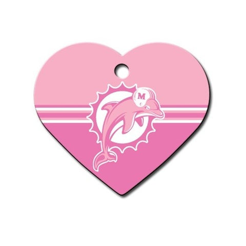 Miami Dolphins Heart ID Tag