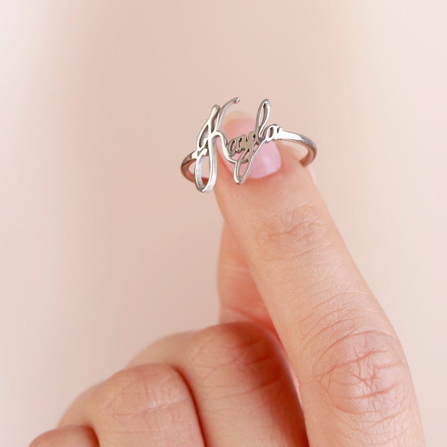 Stacking Name Ring • Daughter Name Ring
