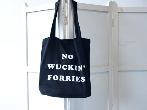 NO WORRIES. CANVAS TOTE. BLACK.