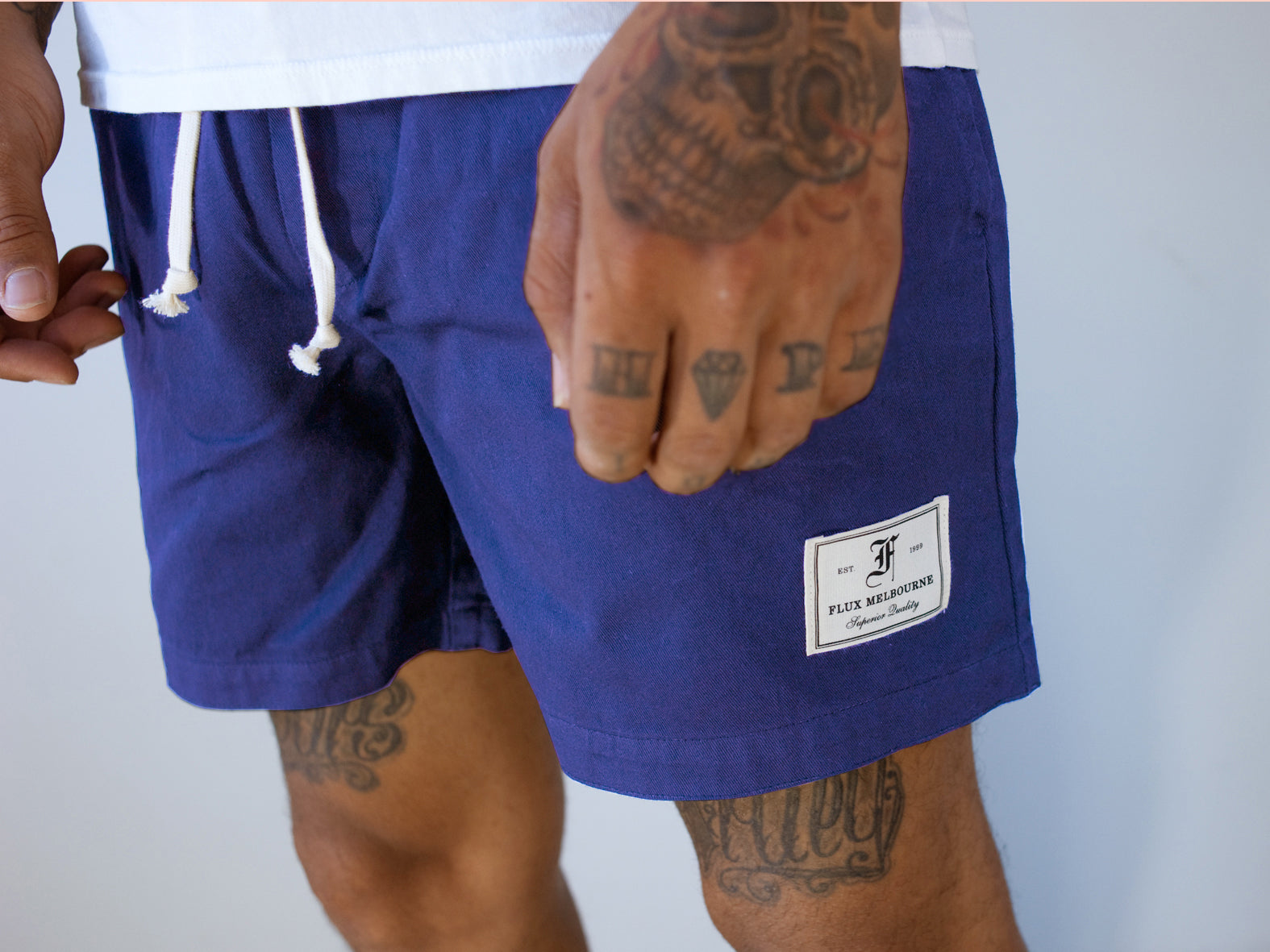 HIT THE CITY SHORTS. ROYAL BLUE