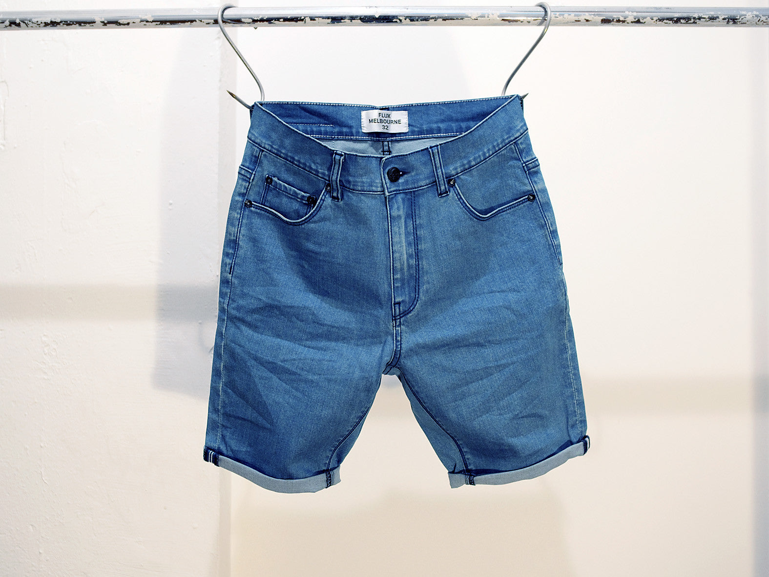 THRASHER BLUE DENIM SHORTS