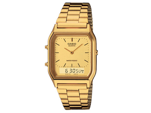 CASIO - MENS DRESS DUO GOLD TONE W/RESISTANT