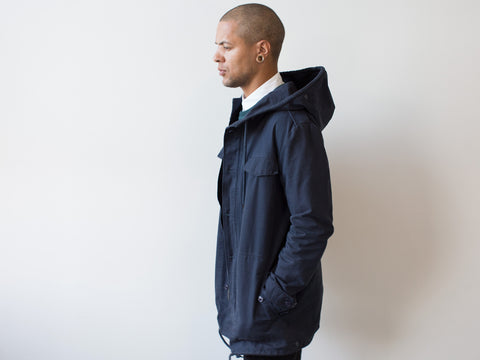 ARMY PARKA. NAVY BLUE.