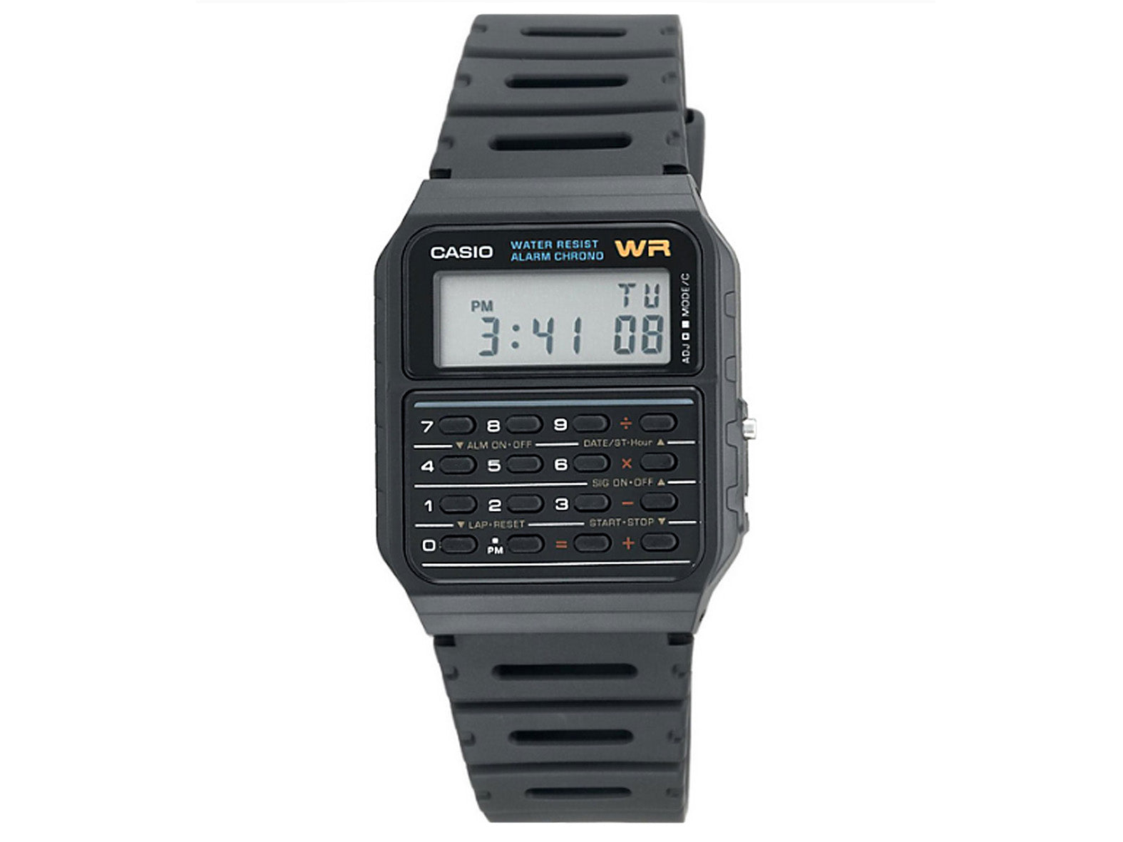 CASIO - CALCULATOR, BLACK RESIN BAND