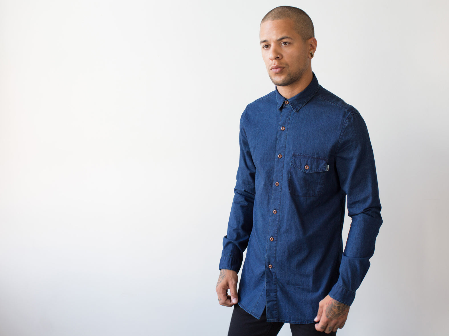 BLUEPRINT SHIRT. DARK INDIGO.