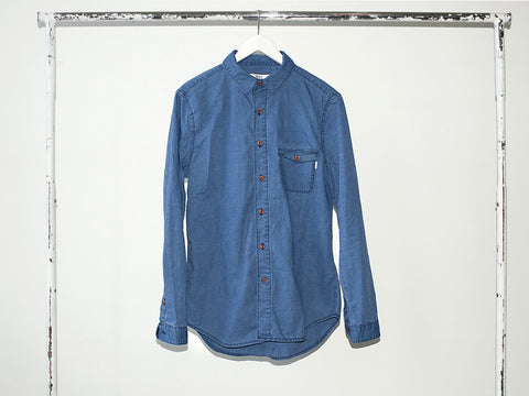 BLUEPRINT SHIRT. WASHED INDIGO. ON SALE!