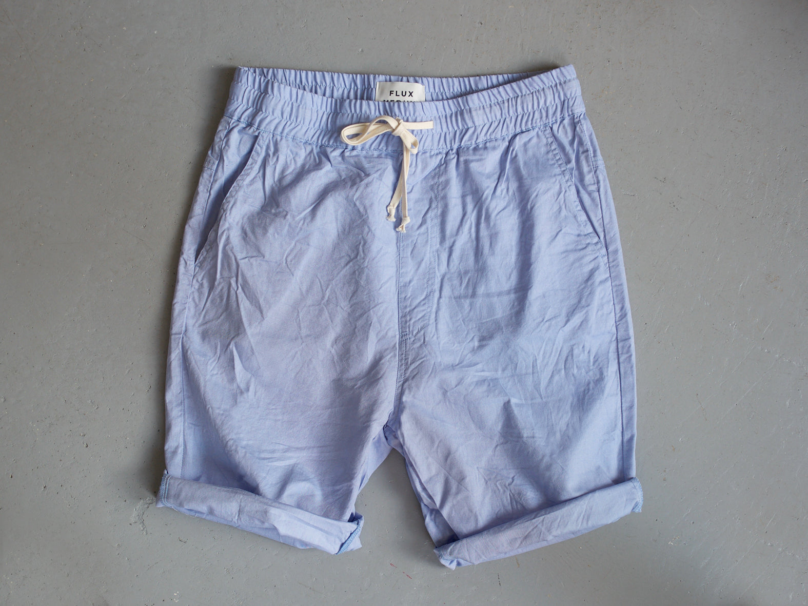 EAST COAST. SKY BLUE - COTTON SHORTS