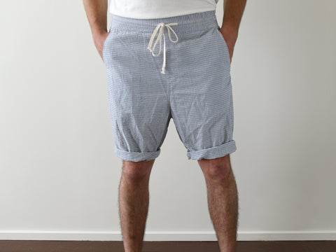 EAST COAST - STRIPED COTTON SHORTS