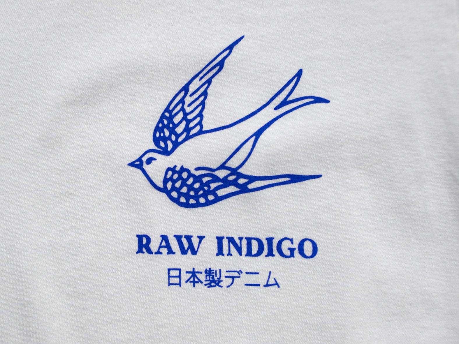 RAW INDIGO. WHITE