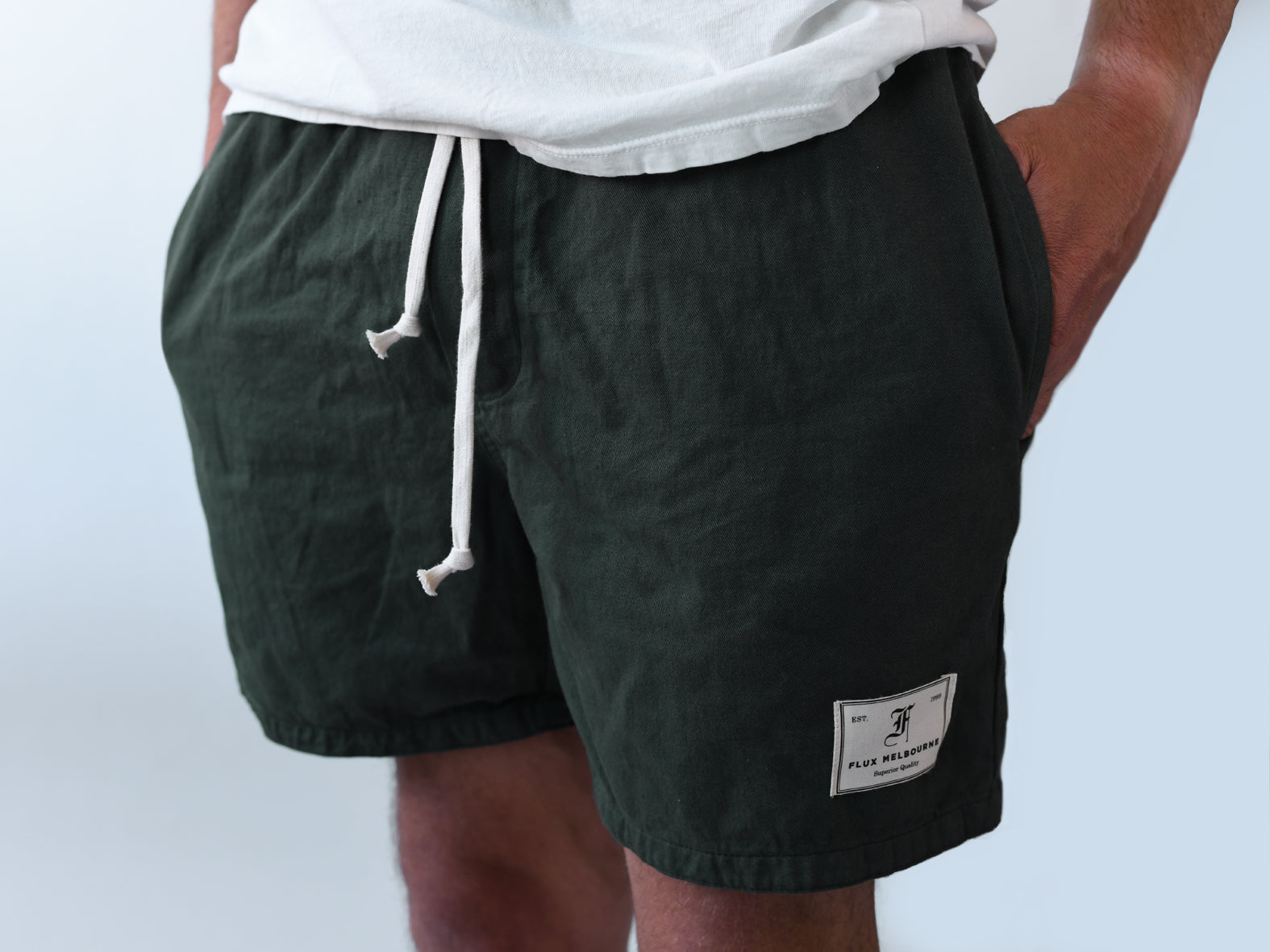 HIT THE CITY. EVERYDAY SHORTS. FOREST.