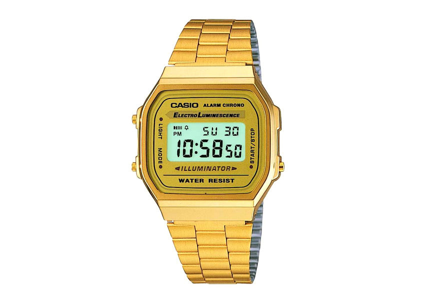 CASIO - B/LIGHT ALARM S/WATCH GOLDTONE