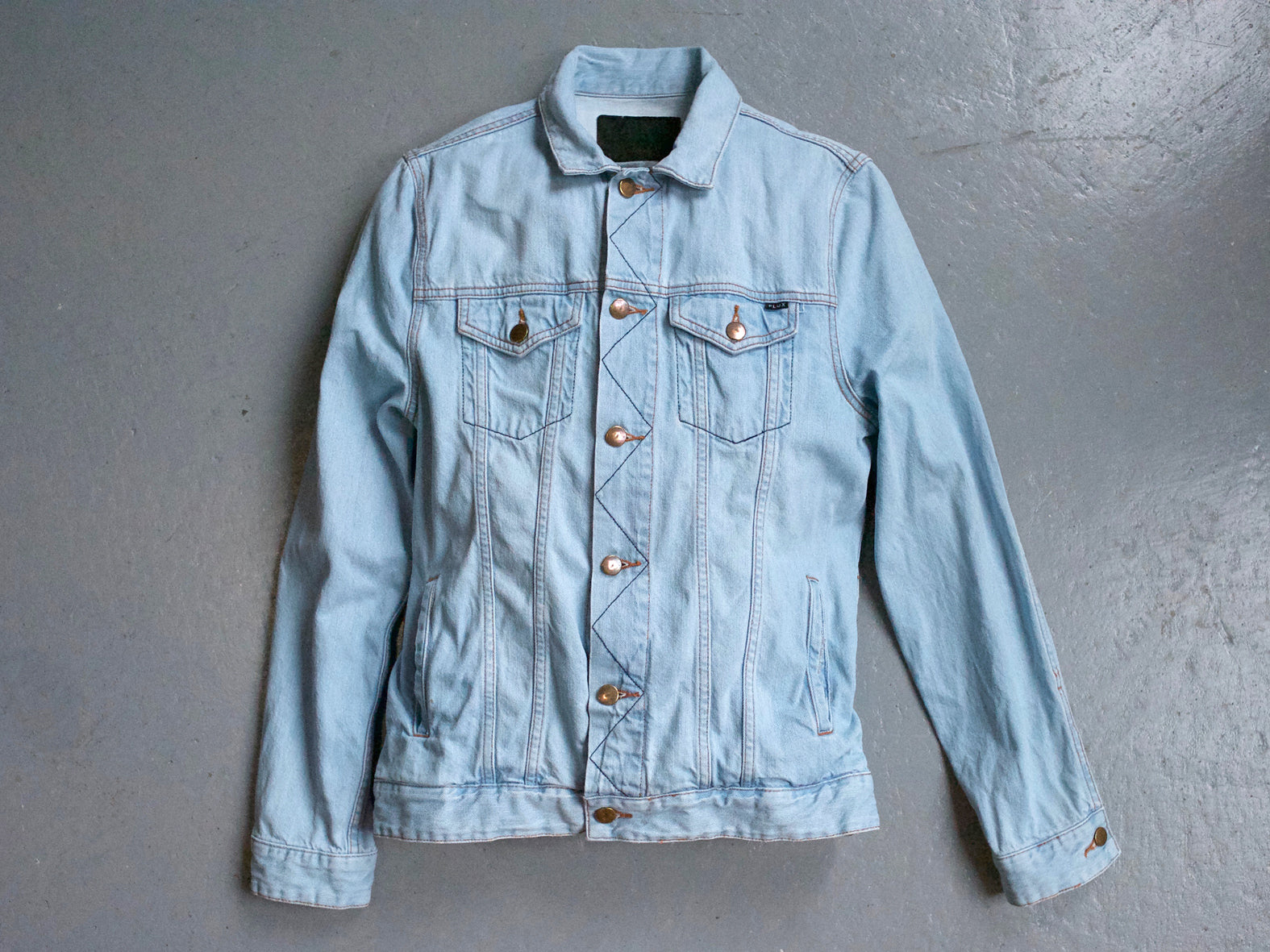 MOTOR CITY DENIM JACKET. BLEACHED.