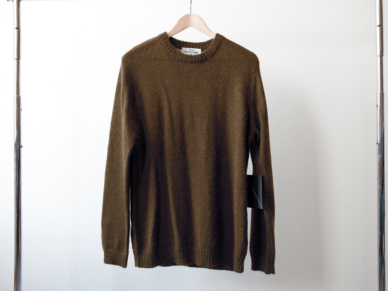 PORTLAND KNITTED JUMPER. CABIN BROWN