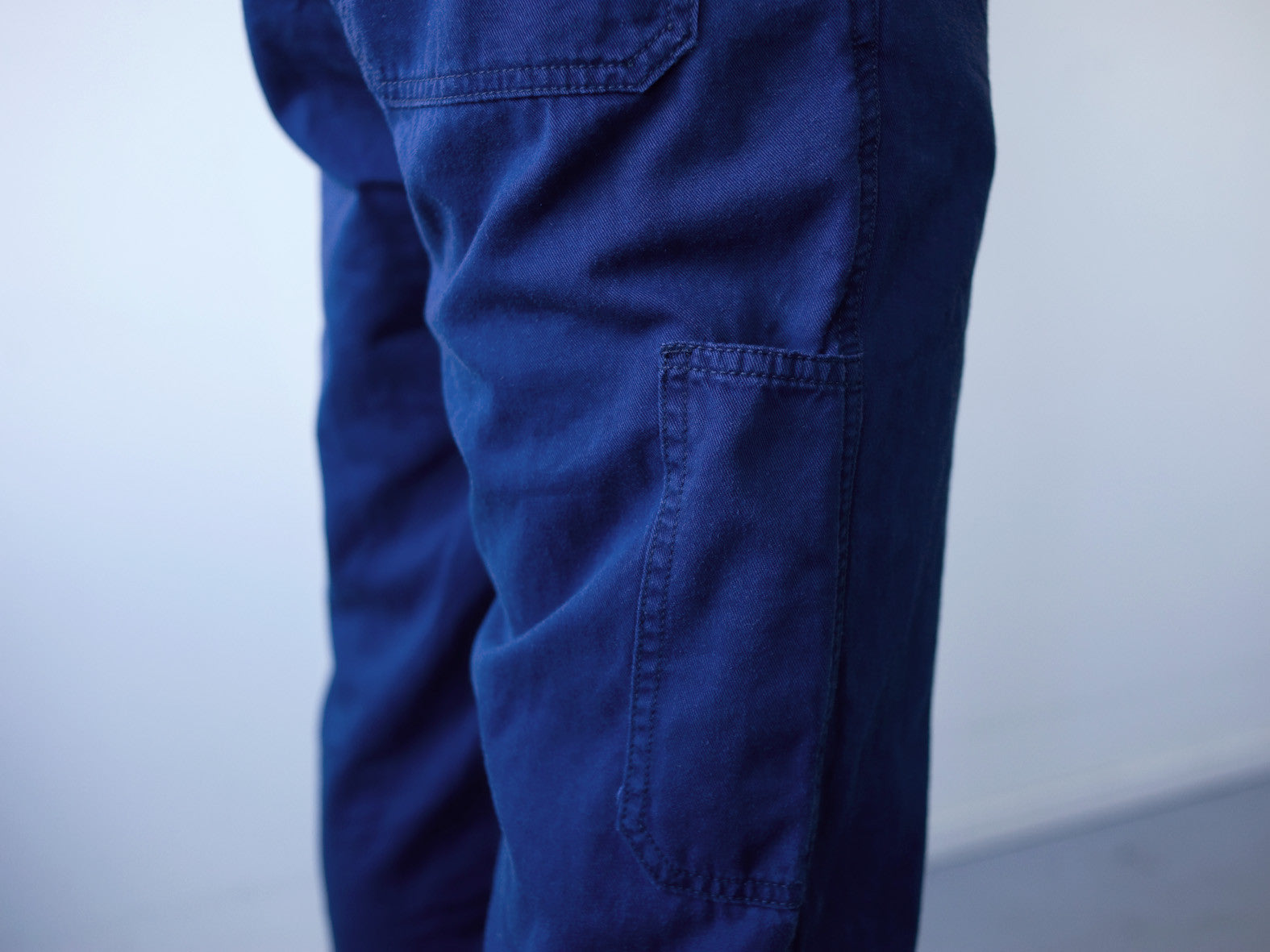 FAST EDDIE WORK PANT. WASHED NAVY.