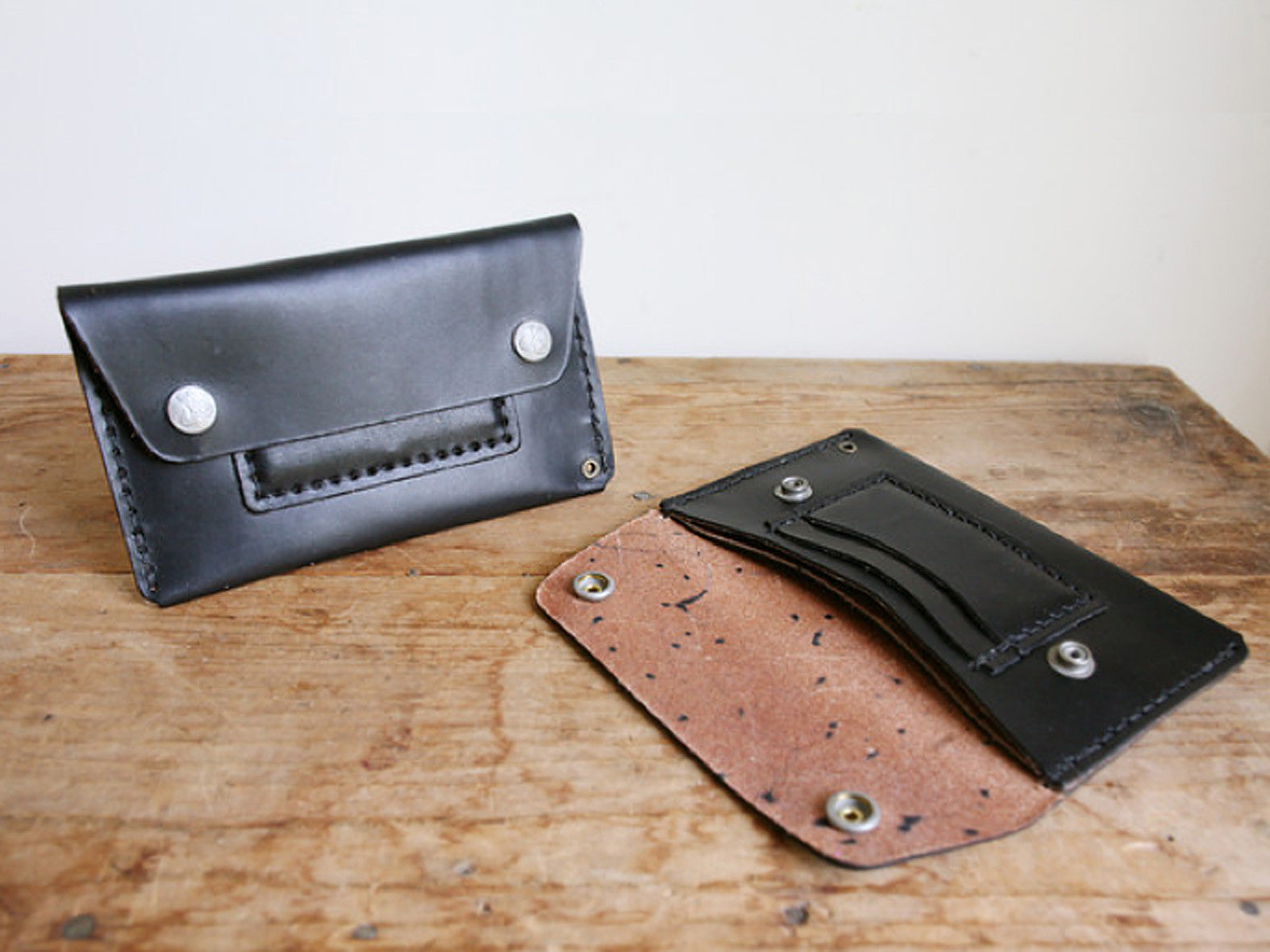 CORTER HANDMADE MECHANICS WALLET - BLACK