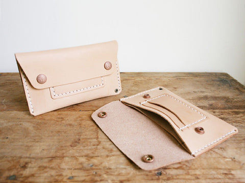CORTER HANDMADE MECHANICS WALLET - NATURAL