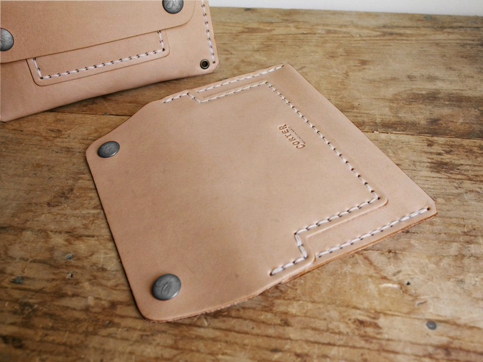 CORTER HANDMADE MECHANICS WALLET - SADDLETAN