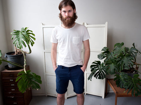 THE SKIPPER. CANVAS DECK SHORTS.