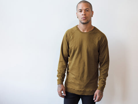 RAGLAN SWEATER. BRONZE