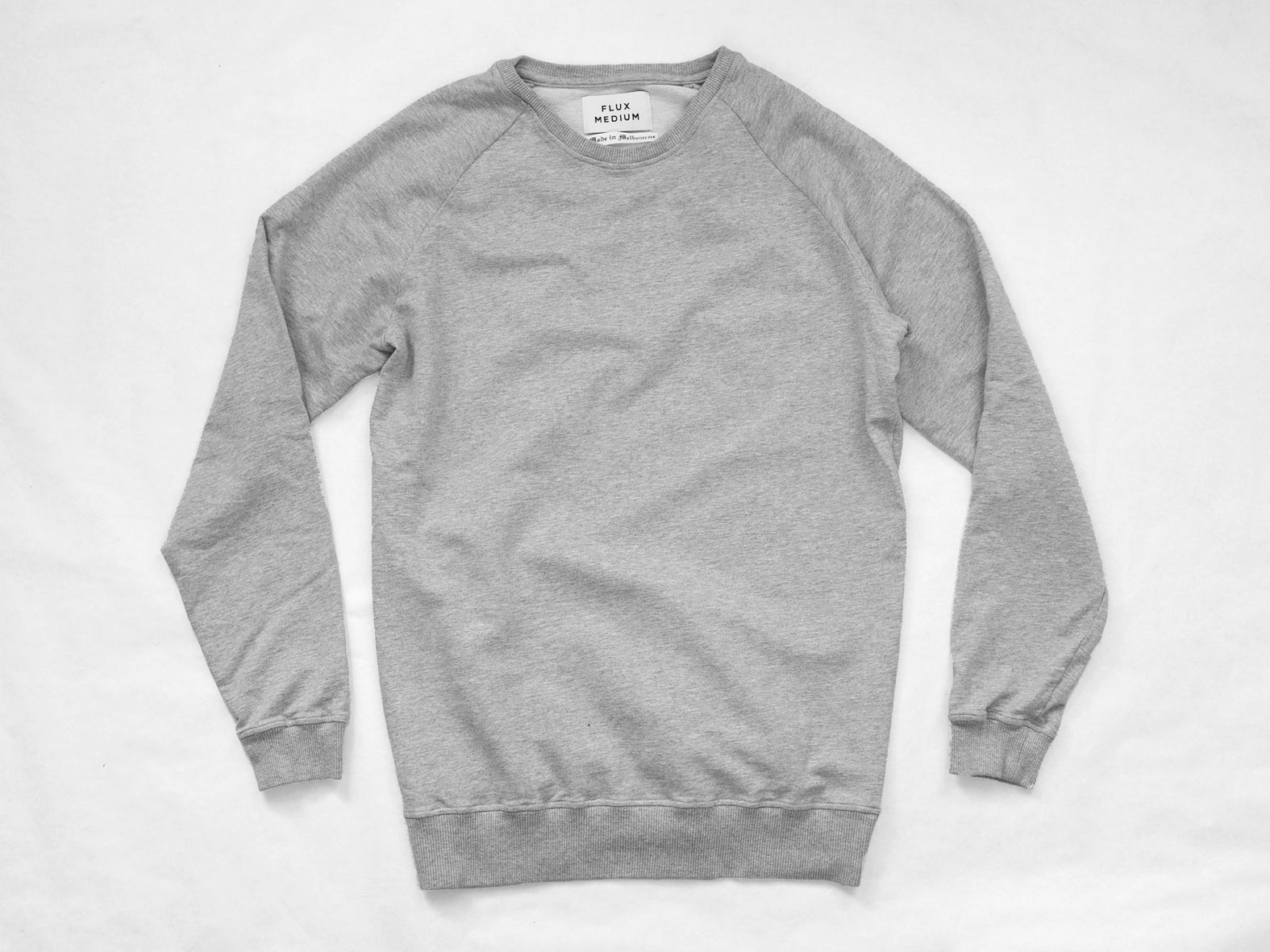 RAGLAN SWEATER. GREY MARLE.