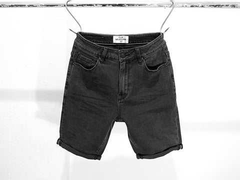 THRASHER BLACK DENIM SHORTS.
