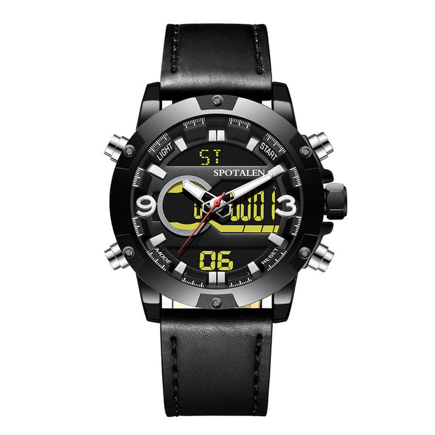 Men's Military Leather Wristwatch