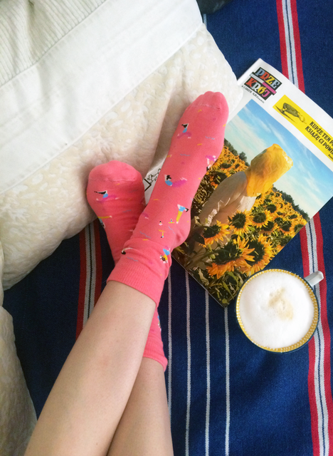 Yoga Pink Socks