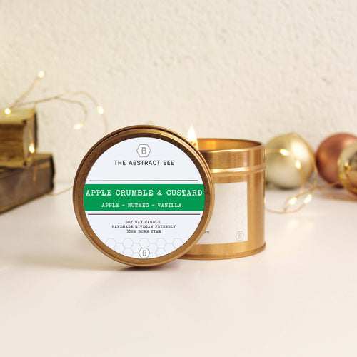 Apple Crumble Christmas Scent Tin Candle