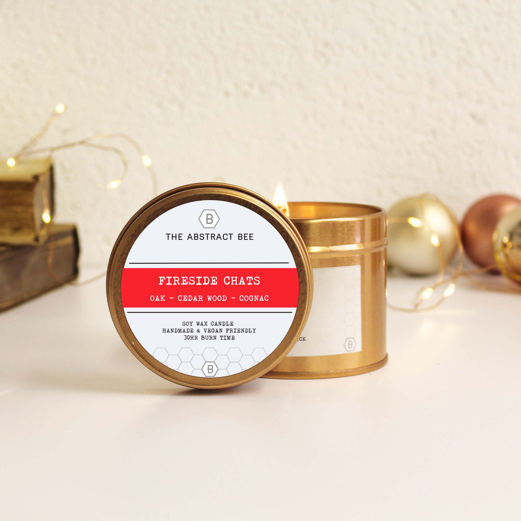 Fireside Chats Christmas Scent Tin Candle