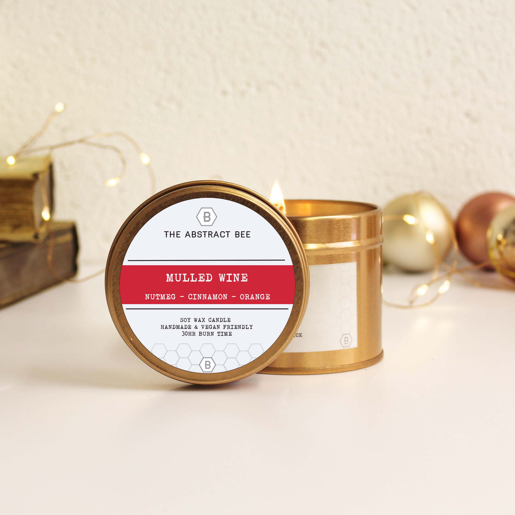 Mulled Wine Christmas Scent Tin Candle