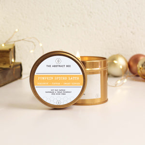 Pumpkin Spiced Latte Christmas Scent Tin Candle
