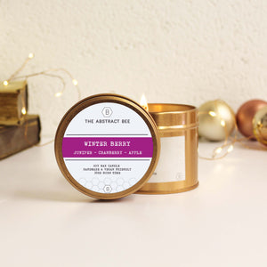 Winter Berry Christmas Scent Tin Candle