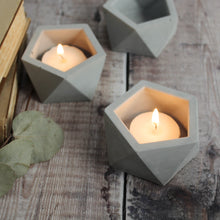Load image into Gallery viewer, Geometric Concrete tealight holder