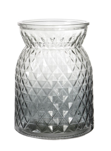 Grey textured glass vase