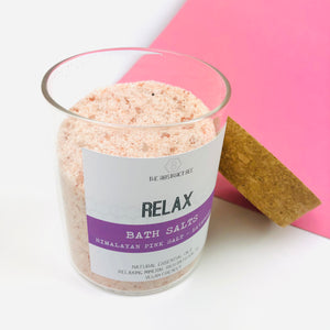 Himilayan Pink Salts with lavender