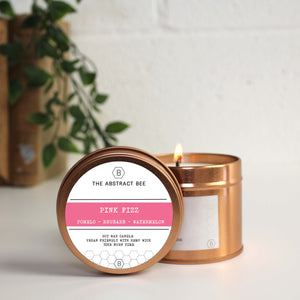 Pink Fizz Scent Tin Candle