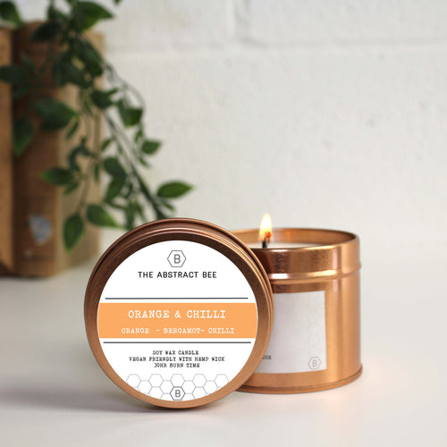 Orange and Chilli Scent Tin Candle