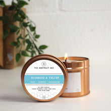 Load image into Gallery viewer, Rosewood and Velvet Scent Tin Candle