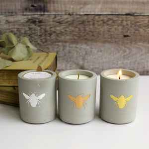 Bee Concrete Soy Wax Candles