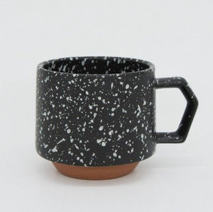 Black and White porcelain mug