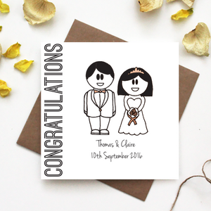 Personalised Congratulations Wedding Card